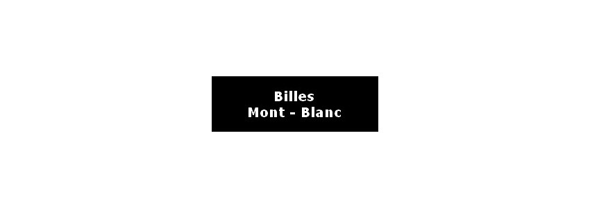 RECHARGES BILLE MONTBLANC