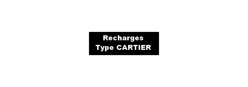 RECHARGES STYLOS CARTIER